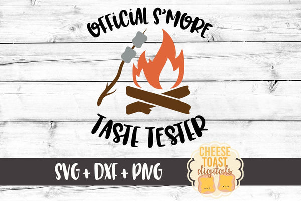 Official S'more Taste Tester - SVG, PNG, DXF