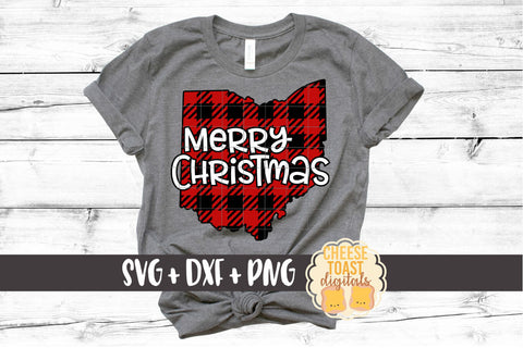 Ohio - Buffalo Plaid Merry Christmas