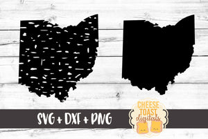 Ohio - Grunge and Solid - SVG, PNG, DXF