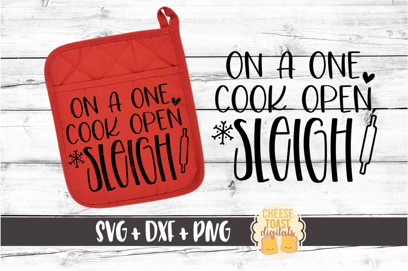 On A One Cook Open Sleigh - Pot Holder Design