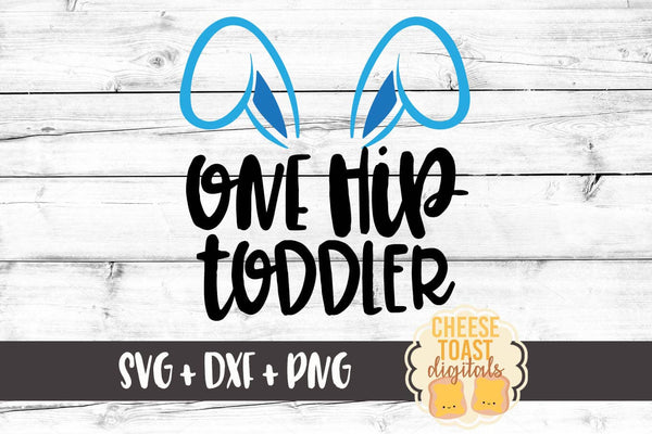 One Hip Toddler - Blue Bunny Ears
