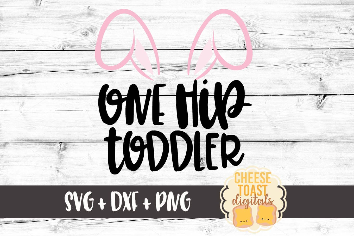 One Hip Toddler - Pink Bunny Ears