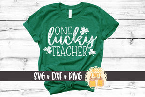 One Lucky Teacher - Distressed