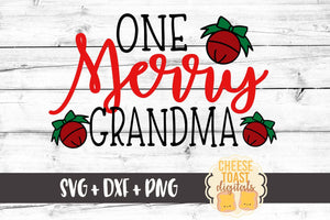 One Merry Grandma - SVG, PNG, DXF