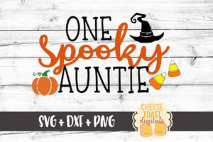One Spooky Auntie - SVG, PNG, DXF