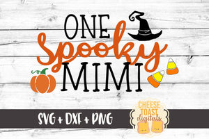 One Spooky Mimi - SVG, PNG, DXF