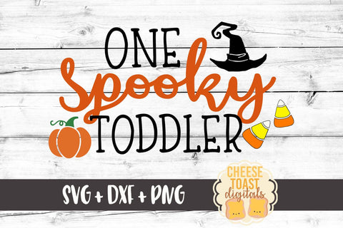 One Spooky Toddler - SVG, PNG, DXF