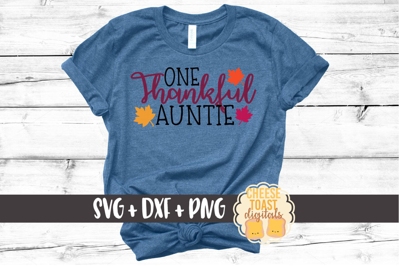 One Thankful Auntie - SVG, PNG, DXF