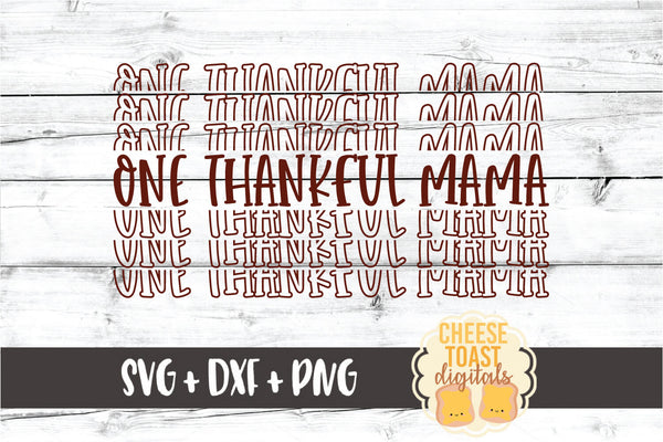 One Thankful Mama - Thanksgiving Mirror Word