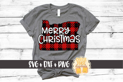 Oregon - Buffalo Plaid Merry Christmas