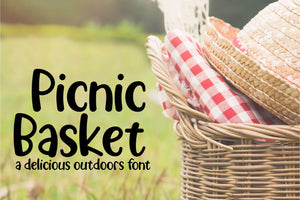 Picnic Basket - A Delicious Outdoors Font