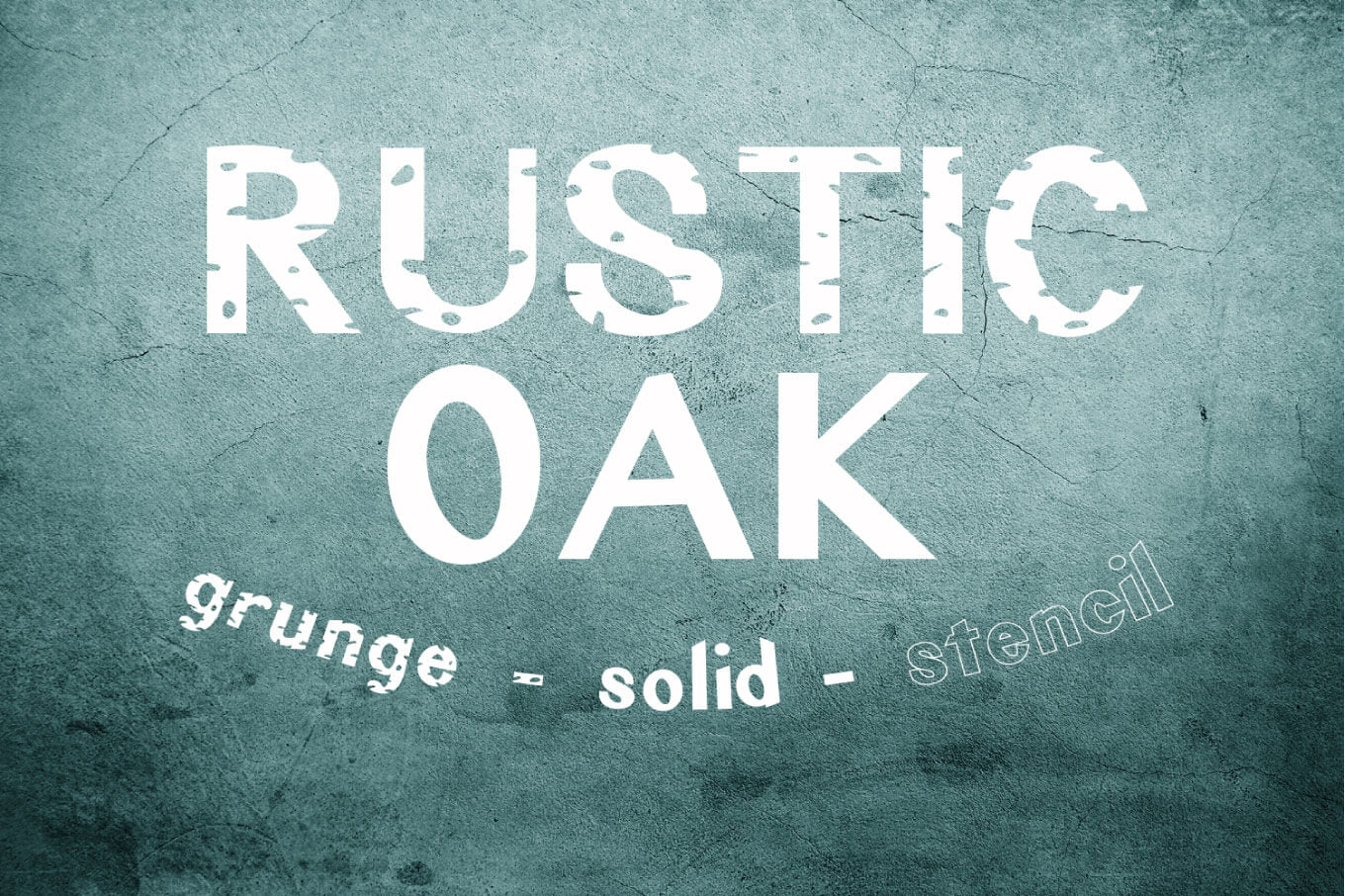 Rustic Oak: A Grunge, Solid, and Stencil Font - SVG, PNG, DXF