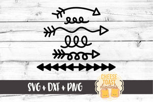 Small Arrow & Elements Bundle - SVG, PNG, DXF