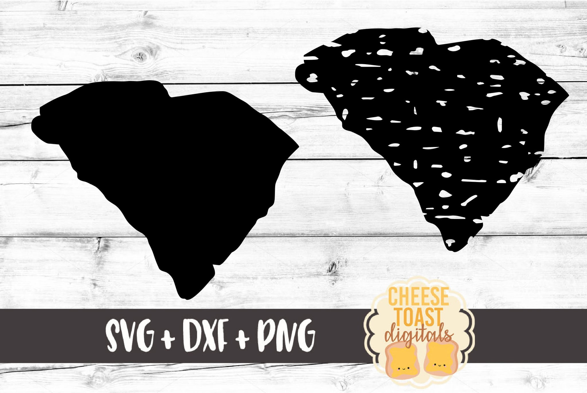 South Carolina - Grunge and Solid - SVG, PNG, DXF