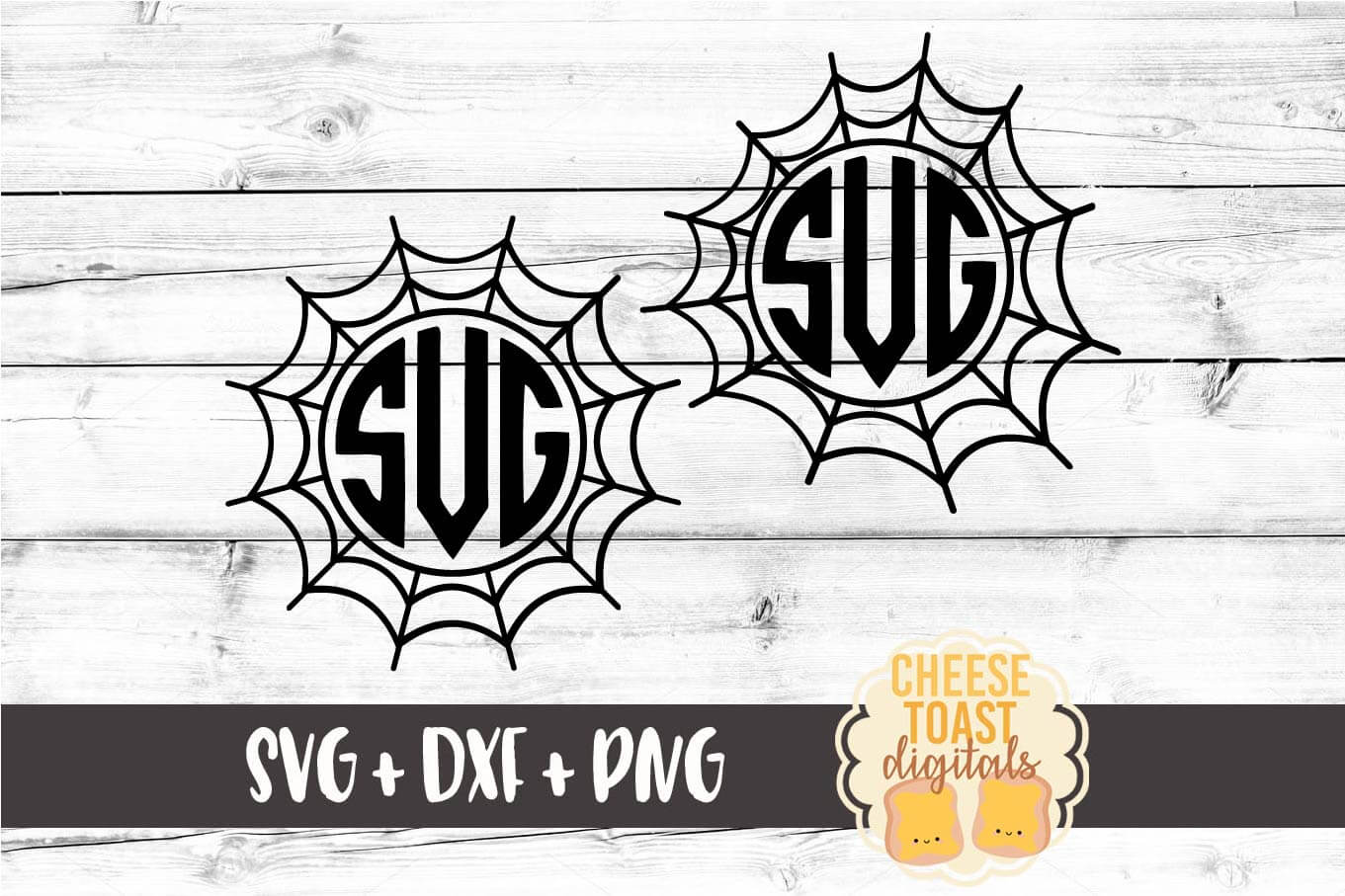 Spider Web Monogram - Set of 2