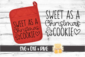 Sweet As A Christmas Cookie - Pot Holder Design
