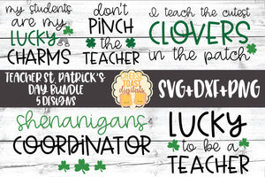 Teacher St Patrick's Day Bundle - 5 Designs