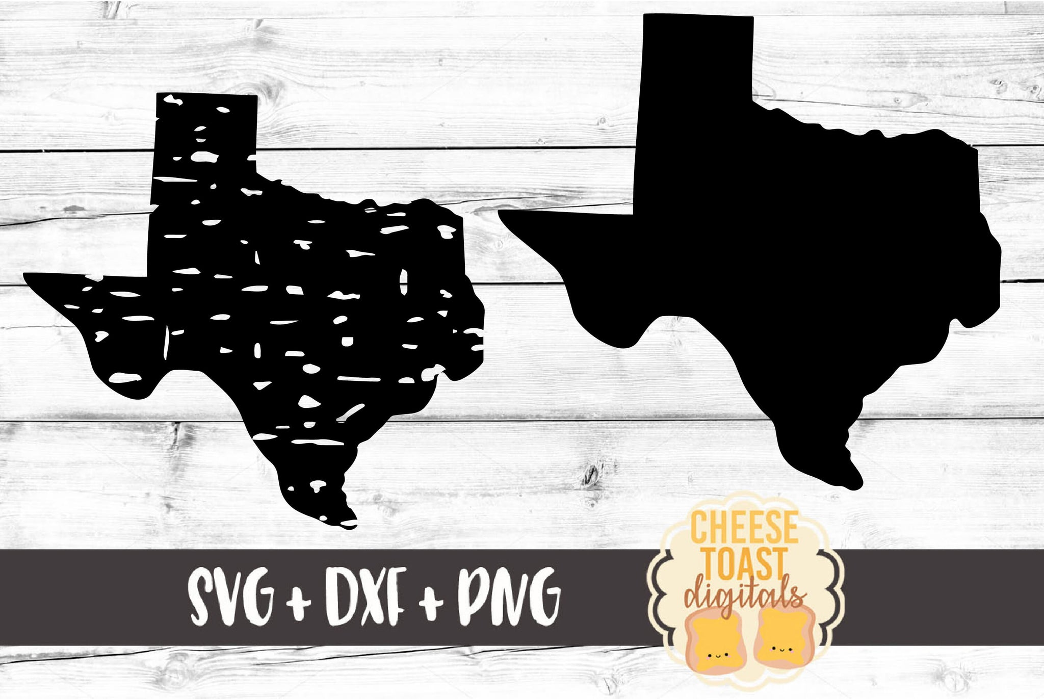 Texas - Grunge and Solid - SVG, PNG, DXF