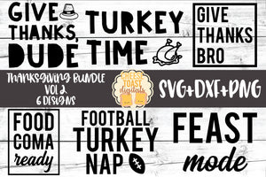 Thanksgiving Bundle Vol 2 - 6 Designs