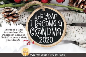 The Year I Became A Grandma | Christmas Ornament