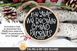 The Year We Became Grandparents | Christmas Ornament