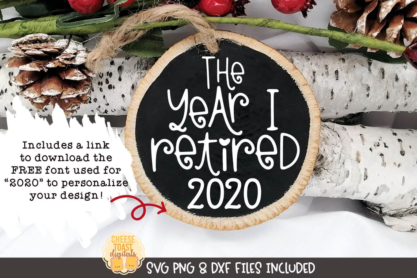 The Year I Retired | Christmas Ornament