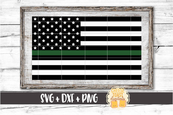 American Flag - Thin Green Line