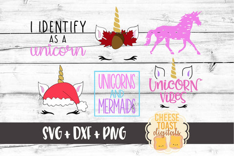 Unicorn Bundle - 6 Designs - SVG, PNG, DXF