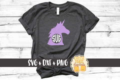 Unicorn Monogram - SVG, PNG, DXF