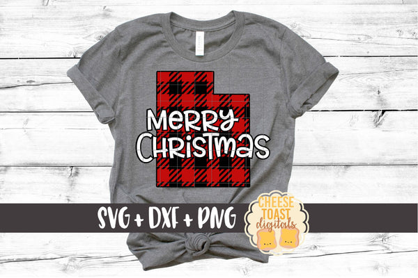 Utah - Buffalo Plaid Merry Christmas