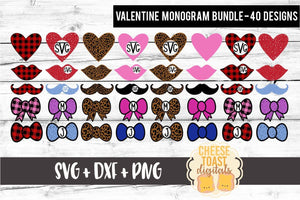Valentine's Day Monogram Bundle