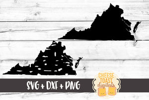 Virginia - Grunge and Solid - SVG, PNG, DXF