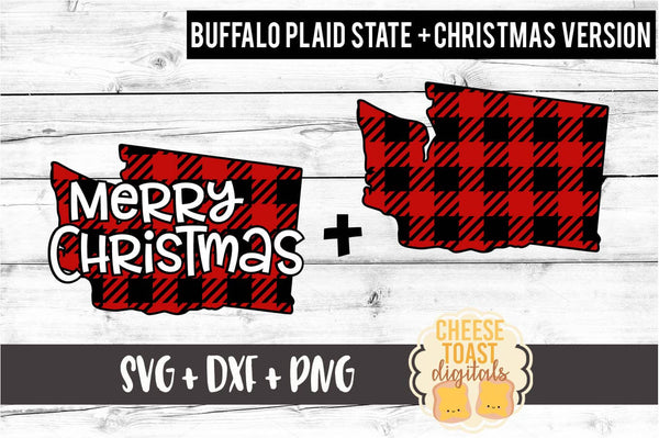 Washington - Buffalo Plaid Merry Christmas