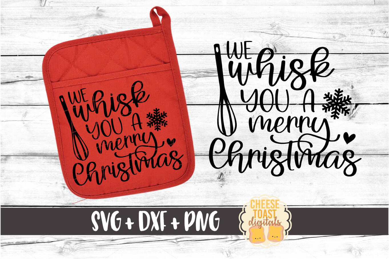 We Whisk You A Merry Christmas - Pot Holder Design