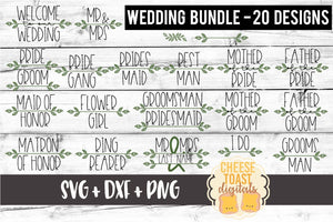 Wedding Party Bundle - 20 Designs