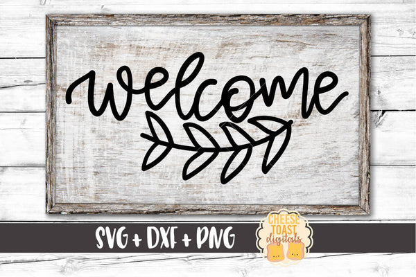 Welcome - SVG, PNG, DXF