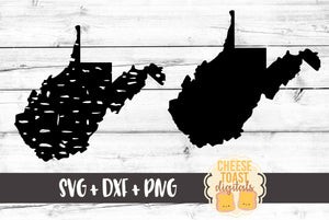 West Virginia - Grunge and Solid - SVG, PNG, DXF