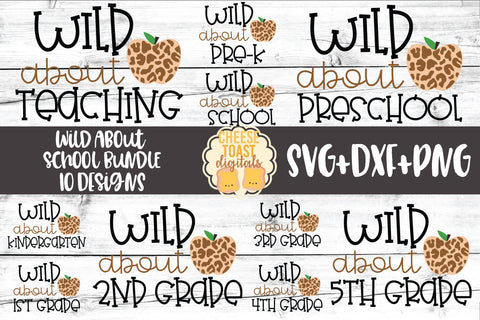 Wild About School Bundle - 10 Designs