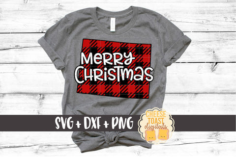 Wyoming - Buffalo Plaid Merry Christmas