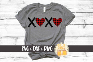 XOXO Hearts - Buffalo Plaid