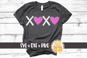 XOXO Hearts - Distressed