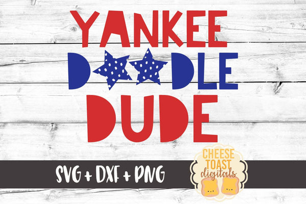 Yankee Doodle Dude - SVG, PNG, DXF