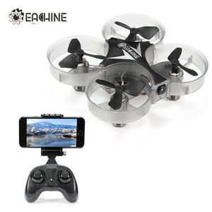 2018 Eachine E012HW Mini WIFI FPV With Altitude Mode 2.4G 4CH 6 Axis LED RC FPV Quadcopter Drone Toy RTF VS E010 JJRC H36 H37