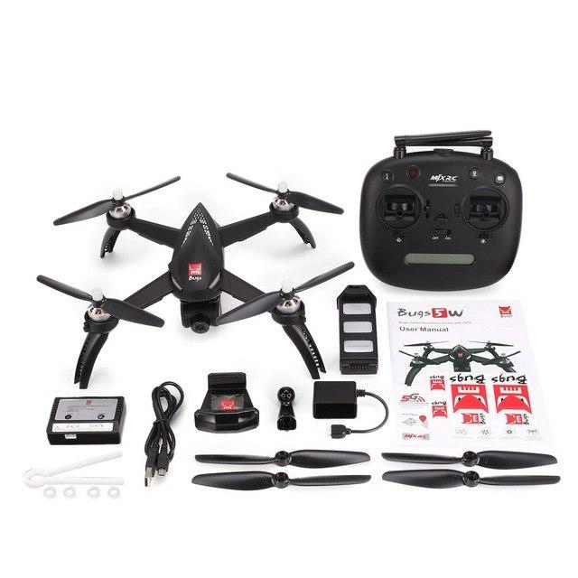 MJX Bugs 5W GPS RC Drone WIFI FPV 1080P HD Camera Auto Return Follow Me RC Quadcopter VS MJX Bugs 3 Pro B2W B3H Dron profissiona