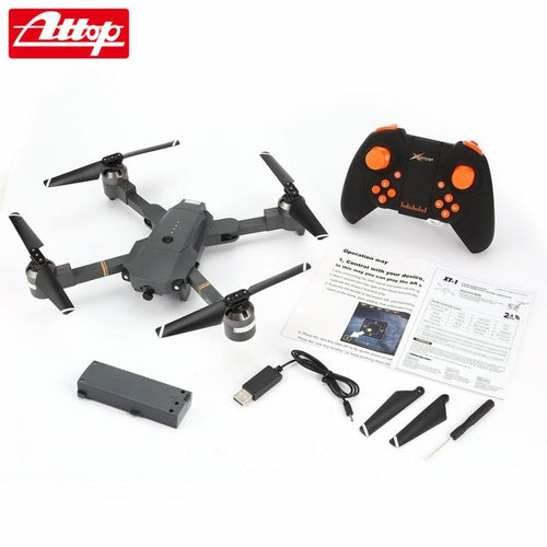 Attop XT-1 2.4GHz 6-axis Gyro Foldable Drone Wi-Fi 2MP HD Camera FPV RC Quadcopter with Headless Mode Altitude Hold 3D Flips hz