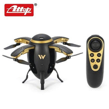 Attop W5 Egg Drone Foldable Mini RC Quadcopter with Altitude Hold Headless Mode One Key Take Off Return for Kids Gift hz