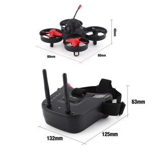 5.8G 40CH FPV Camera Mini RC Racing Drone Quadcopter Aircraft with 3in Headset Auto-searching Goggles Receiver Monitor