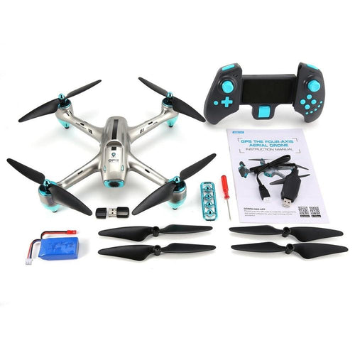 6957G 2.4G GPS Positioning 720P HD Wide Angle Camera FPV RC Drone Quadcopter Real-Time Follow Me One Key Return 360'Flips HOT!