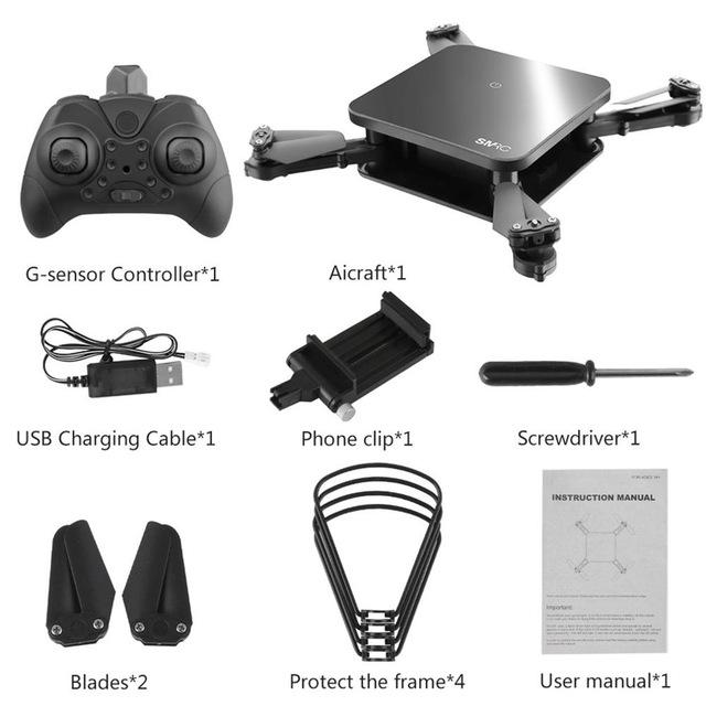 SMRC S6 720P HD WIFI Camera RC Quadcopter Altitude Hold Remote Control Quadcopter Camera Optical Flow Positioning Drone Aircraft