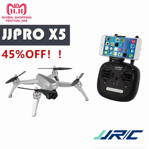 BIG SLAE! JJPRO X5 2.4G GPS Positioning 1080P HD 5GWIFI Adjustable Camera FPV Drone Brushless RC Drone Quadcopter One Key Return